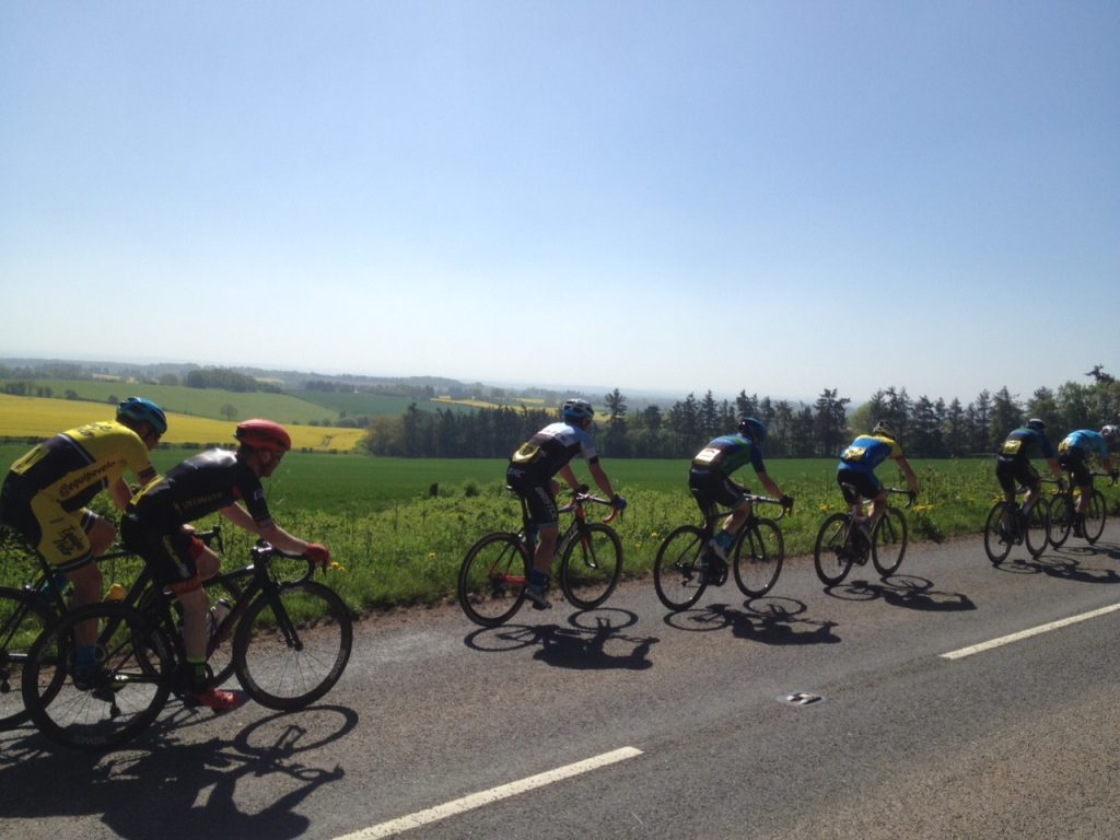 Tour of the Abberleys 2018 - blue skies over Woodbury Hill